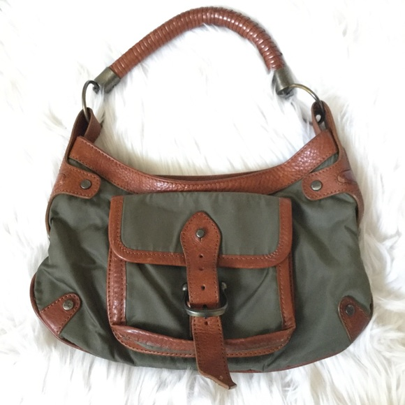 Burberry Handbags - Authentic BURBERRY Prorsum Green Nylon Leather Bag